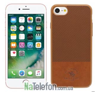 Кожаный чехол Polo Apple Prestige для iPhone 7 Brown