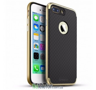 """Накладка iPaky (OR) Carbon TPU + Bumper for Apple iPhone 7 plus (5.5"""") Gold"""