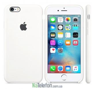 Оригинальный силиконовый чехол для iPhone 6/6s Белый