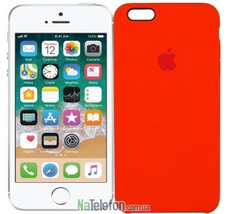 Оригинальный силиконовый чехол для iPhone 6/6s Plus Оранжевый