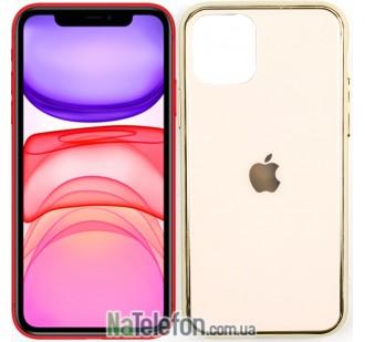 Чехол U-Like Glossy Logo case iPhone 11 Золотой