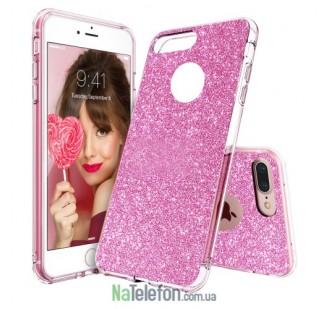 Силиконовый блестящий чехол Remax Glitter Silicon для iPhone 7 Plus Pink