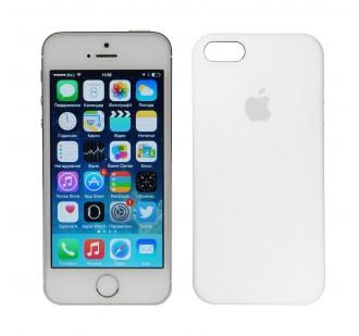 Оригинальный силиконовый чехол для iPhone 5/5s/SE Белый
