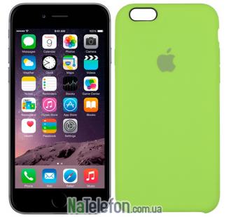 Оригинальный силиконовый чехол для iPhone 6/6s Plus Ярко зеленый
