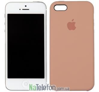 Оригинальный силиконовый чехол для iPhone 5/5s/SE Персиковый