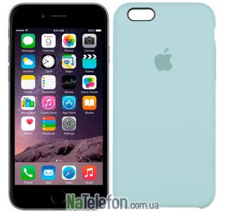 Оригинальный силиконовый чехол для iPhone 6/6s Plus Минтоловый