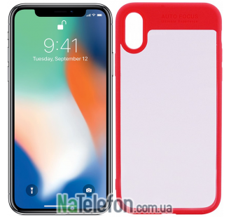 TPU чехол iPaky Hard Series для Apple iPhone X (5.8) Красный