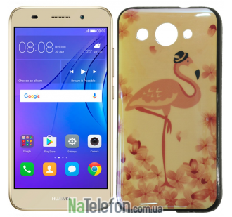 Чехол U-Like Picture series для Huawei Y3 2017 Flamingo