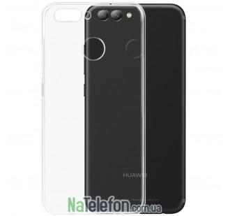 Ультра тонкий силиконовый чехол 0.3 для Huawei Nova 2 White