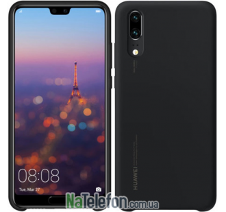 Чехол Original Silicone Case для Huawei P20 Black