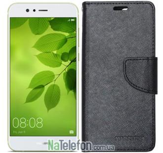 Чехол книжка Goospery для Huawei Nova 2 черный