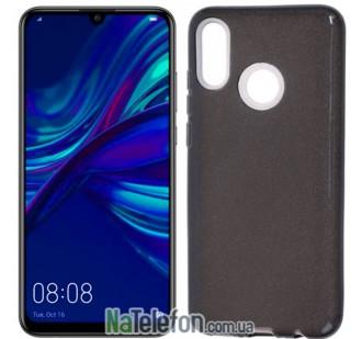 Чехол Silicone 3in1 Блёстки для Huawei P Smart 2019 Black