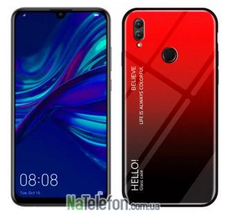 Чехол TPU Gradient HELLO Glass для Huawei P Smart 2019 Красный
