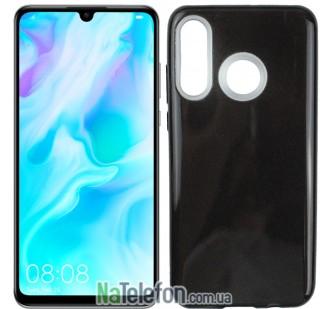 Чехол Silicone 3in1 Блёстки для Huawei P30 Lite Black