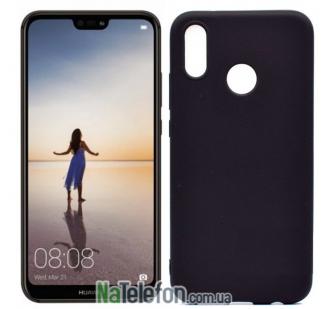 Чехол Original Silicone Case для Huawei P20 Lite Black