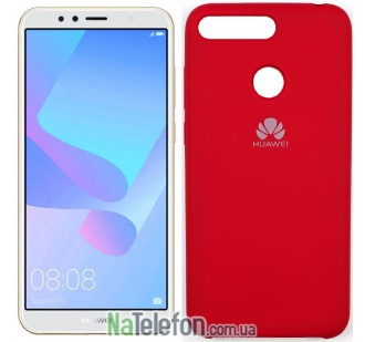 Чехол Original Soft Case для Huawei Y6 2018 Вишневый