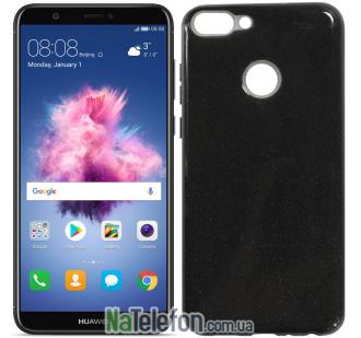 Чехол Silicone 3in1 Блёстки для Huawei P Smart Black