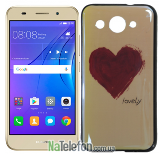 Чехол U-Like Picture series для Huawei Y3 2017 Heart Blue