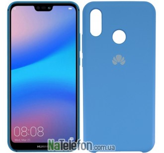 Чехол Original Soft Case Huawei P20 Lite Ярко синий