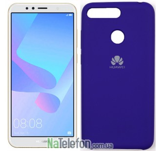 Чехол Original Soft Case для Huawei Y6 2018 Фиолетовый
