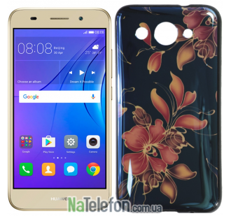 Чехол U-Like Picture series для Huawei Y3 2017 Flowers