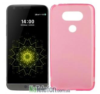 Силиконовый чехол Original Silicon Case LG G5 Pink