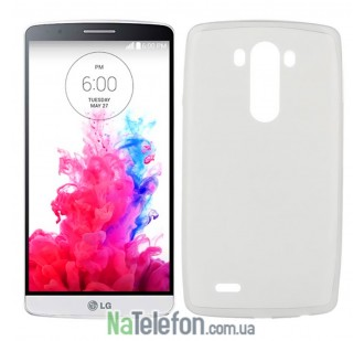 Чехол Ultra Thin Silicone Remax 0.2 mm для LG G3/D855 White