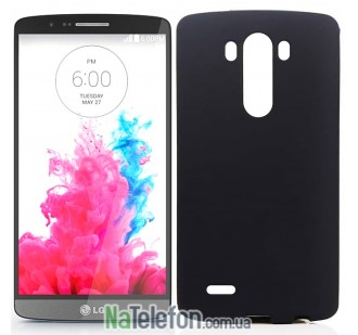 Силиконовый чехол Original Silicon Case LG G3/D855 Black
