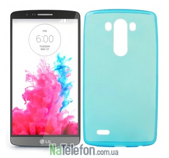 Силиконовый чехол Original Silicon Case LG G3/D855 Blue