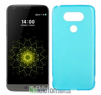 Силиконовый чехол Original Silicon Case LG G5 Blue