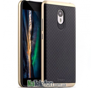 Накладка iPaky (OR) Carbon TPU + Bumper for Meizu M3s Gold