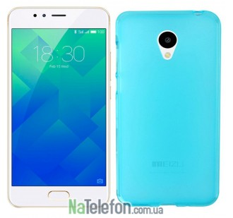 Чехол Original Silicone Case для Meizu M5s Blue