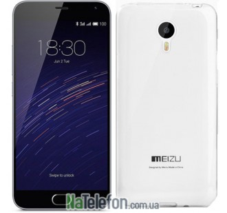 Чехол Ultra Thin Silicone Remax 0.2 mm для Meizu M2 Note White