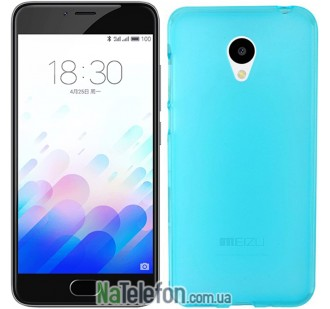 Чехол Original Silicone Case для Meizu M3 Blue
