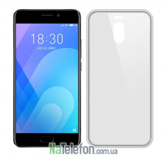 Ультра тонкий силиконовый чехол 0.3 mm для Meizu M6 Note White