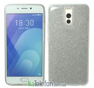 Силиконовый чехол Silicone 3in1 Блёстки для Meizu M6 Note White