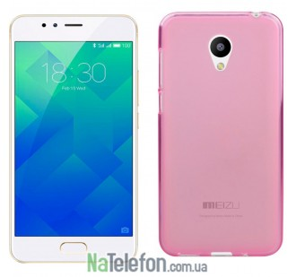 Чехол Original Silicone Case для Meizu M5s Pink