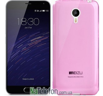 Чехол Original Silicone Case для Meizu M2 Note Pink