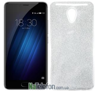 Силиконовый чехол Silicone 3in1 Блёстки для Meizu M5 Note White