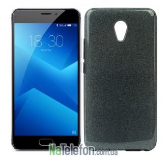 Чехол Silicone 3in1 Блёстки для Meizu M5 Note Black