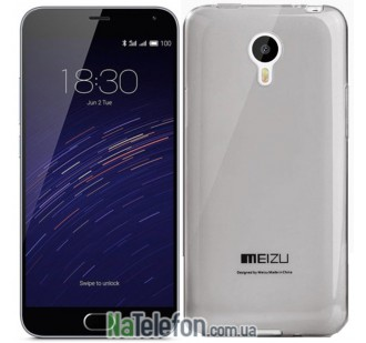 Чехол Ultra Thin Silicone Remax 0.2 mm для Meizu M2 Note Black