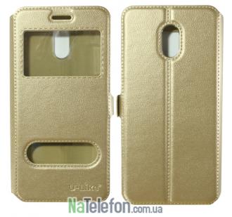 Чехол-книжка U-Like Simple Meizu M6s Gold