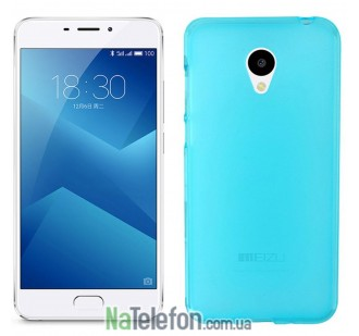 Чехол Original Silicone Case для Meizu M5 Blue