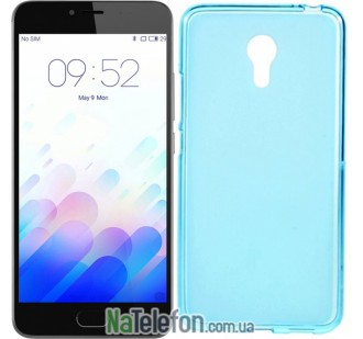 Чехол Original Silicone Case для Meizu M3 Note Blue