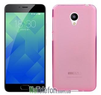 Чехол Original Silicone Case для Meizu M5 Pink