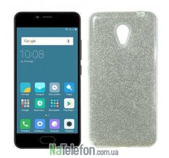 Силиконовый чехол Silicone 3in1 Блёстки для Meizu M5C White