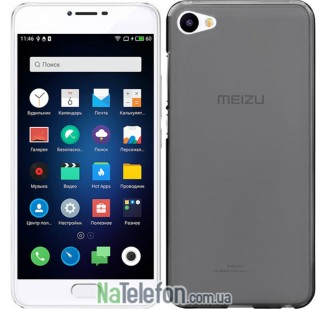 Чехол Original Silicone Case для Meizu U10 Black