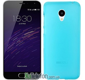 Чехол Ultra Thin Silicone Remax 0.2 mm для Meizu M2 Blue