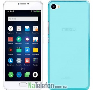 Чехол Original Silicone Case для Meizu U10 Blue