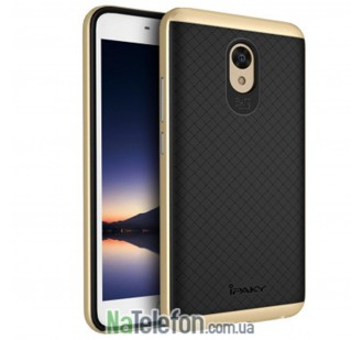 Накладка iPaky (OR) Carbon TPU + Bumper for Meizu M5 Note Gold